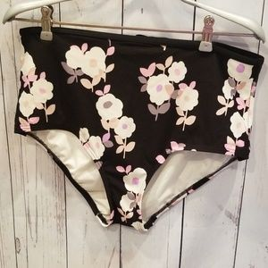 NWOT BARELY WORN Kate Spade XL Floral Swim Bottoms